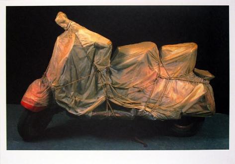Wrapped Vespa Art Print