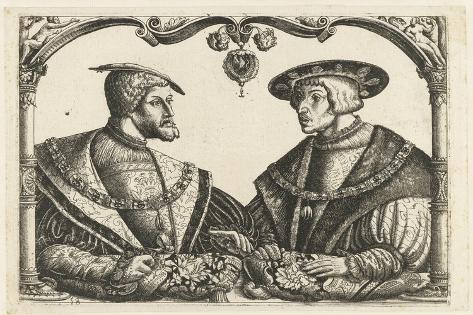 Charles V and Ferdinand I Lámina giclée