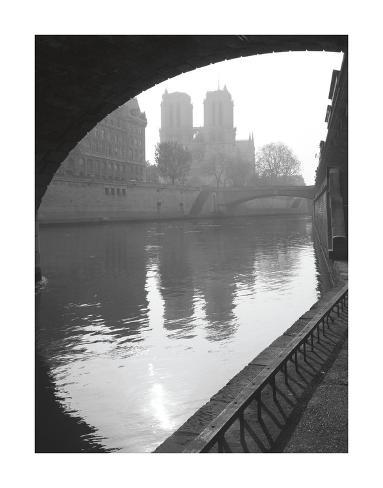 Notre Dame Reflection Giclee Print