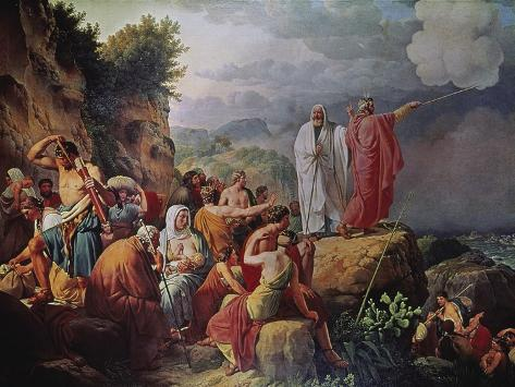 Moses Divides the Waters of the Red Sea Giclee Print