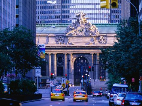 Street Outside Grand Central Station, New York City, New York Photographic Print