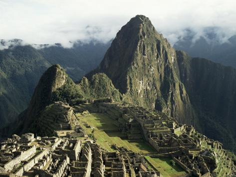 Lost City of the Incas at Dawn, Machu Picchu, Unesco World Heritage Site, Peru, South America Photographic Print