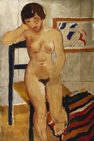 Nude with a Striped Rug, Meraud Guinness, 1928 Giclee Print