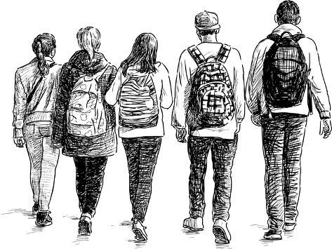 School Children Art Print