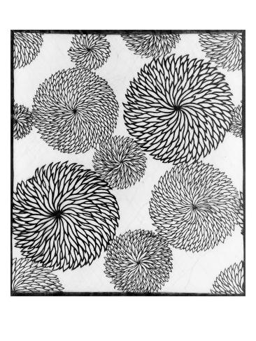 Chrysanthemums, a Stencil for Printing on Cotton Giclee Print