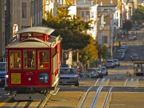 Cable Car on Powell Street in San Francisco, California, USA Photographic Print