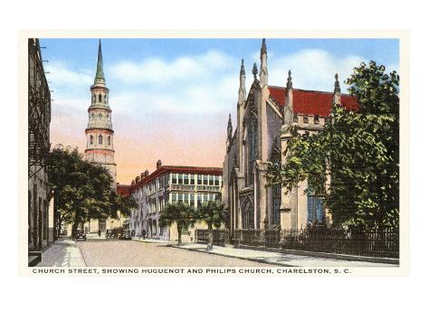 Church Street, Charleston, South Carolina Art Print