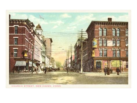 Church Street, New Haven, Connecticut Art Print