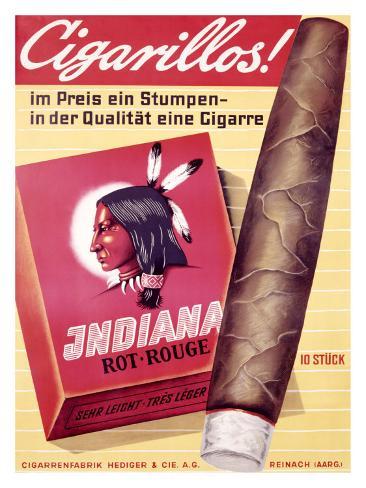 Cigarillos Indiana Giclee Print