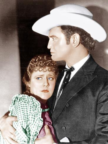 CIMARRON, from left: Irene Dunne, Richard Dix, 1931 Stretched Canvas Print