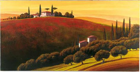 Tuscan Skyline I Art Print