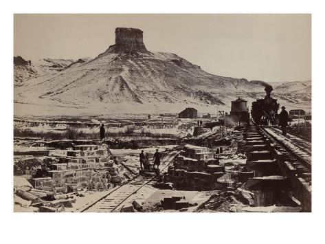 Citadel Rock, Green River Valley Art Print