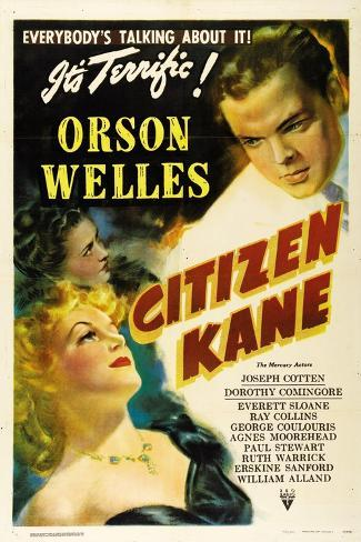 Citizen Kane, Directed by Orson Welles, 1941 Giclee Print