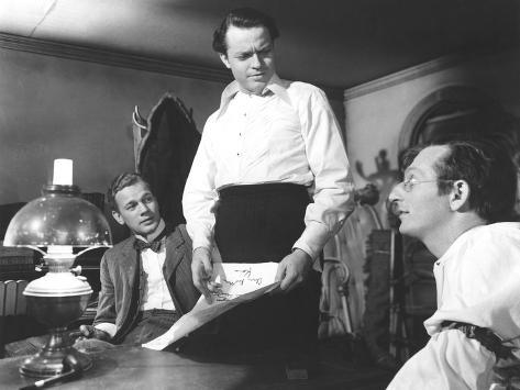 Citizen Kane, Joseph Cotten, Orson Welles, Everett Sloane, 1941 Photo