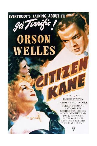 Citizen Kane - Movie Poster Reproduction Art Print
