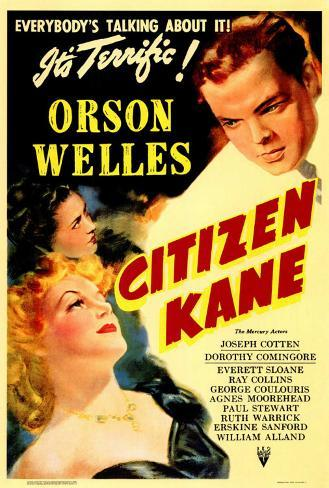 Citizen Kane Framed Canvas Print