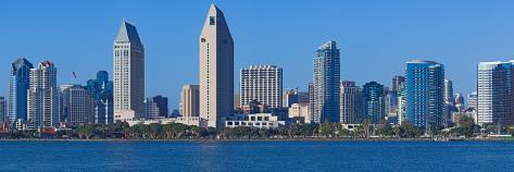 City at the Waterfront, San Diego, California, USA 2010 Stretched Canvas Print