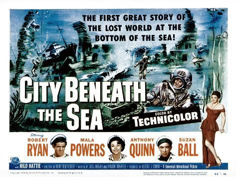 City Beneath the Sea, Robert Ryan, Mala Powers, Anthony Quinn, Suzan Ball, 1953 Photo