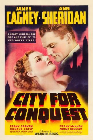 City For Conquest, Ann Sheridan, James Cagney, 1940 Premium Giclee Print
