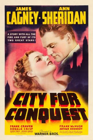 City For Conquest, Ann Sheridan, James Cagney, 1940 Art Print