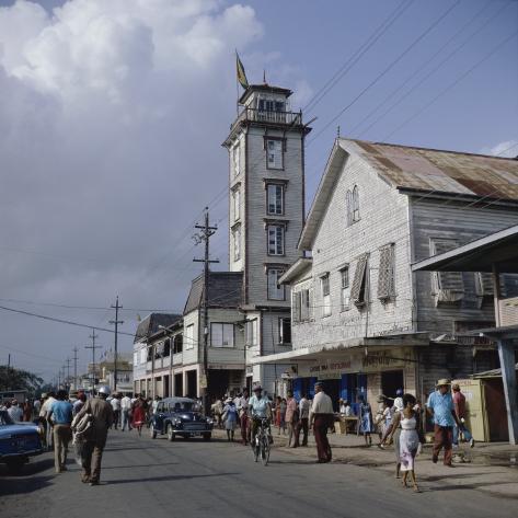City Hall, New Amsterdam, Guyana Photographic Print
