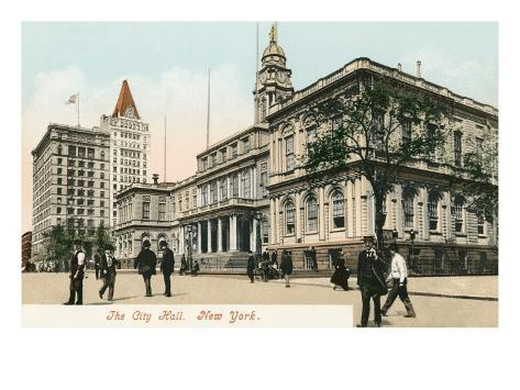 City Hall, New York City Stretched Canvas Print