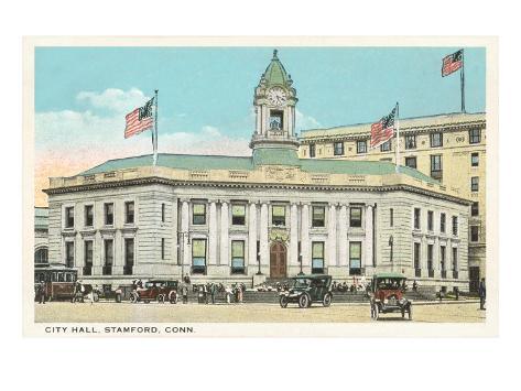 City Hall, Stamford, Connecticut Art Print