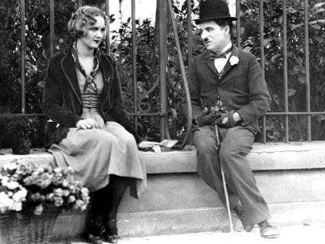 City Lights, Virginia Cherrill, Charlie Chaplin, 1931 Photo