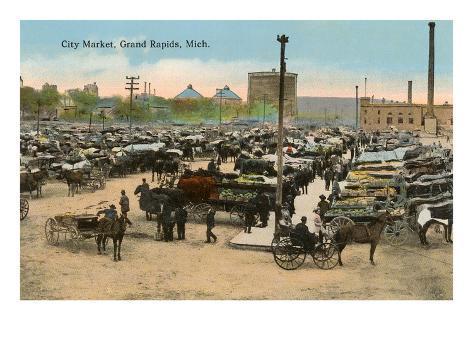City Market, Grand Rapids, Michigan Art Print