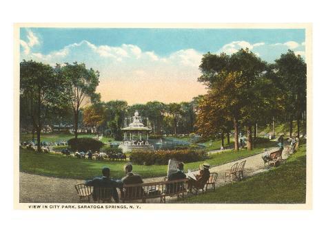 City Park, Saratoga Springs, New York Art Print