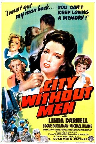 City Without Men, US poster, Linda Darnell, 1943 Art Print
