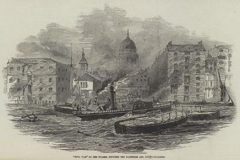 Civil War on the Thames, Between the Watermen and City Authorities Giclee Print