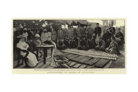 Civilisation in Assam at Udalguri Giclee Print