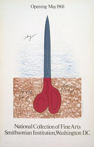 Scissors as Monument, 1968 Collectable Print