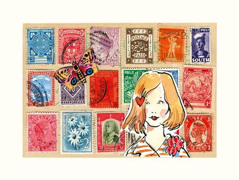 Carte Postal VI Art Print