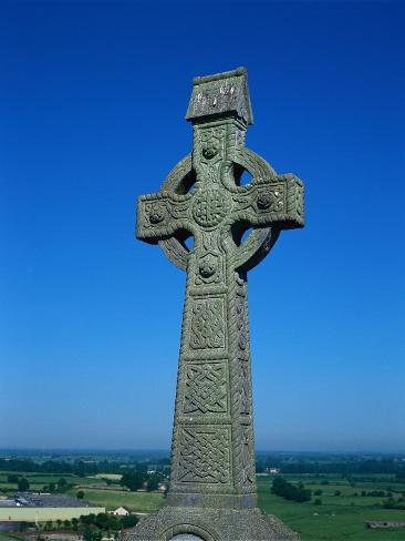 Celtic Cross with Knotted Desings, 7th Century, Ireland Photographic Print