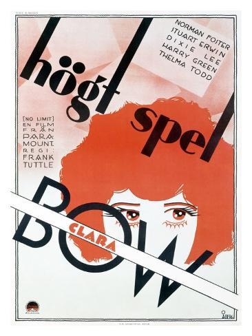 Clara Bow No Limit Stampa giclée