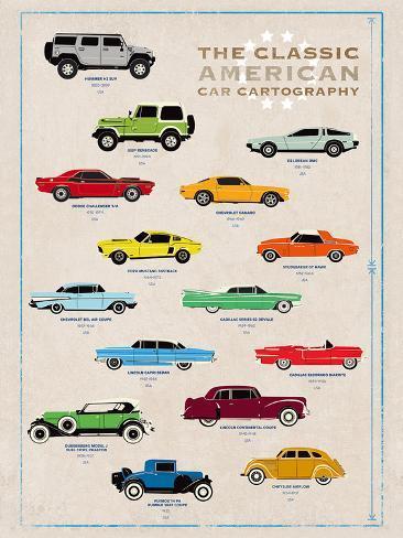 Car Cartography I Stampa giclée
