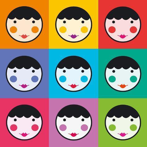 Colourful Smiles Art Print