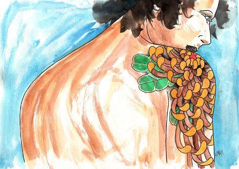 Lady Chrysanthemum Stretched Canvas Print
