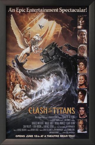 Clash of the Titans Framed Art Print