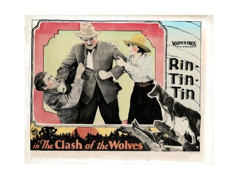 Clash of the Wolves, Charles Farrell, Pat Hartigan, June Marlowe, Rin Tin Tin, 1925 Giclee Print