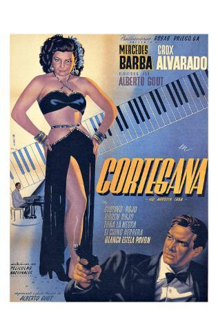 Classic Mexican Movie: Courtesana with Mecedes Barba Giclee Print