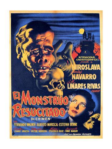 Classic Mexican Movie: El Monstruo Resucitado Giclee Print