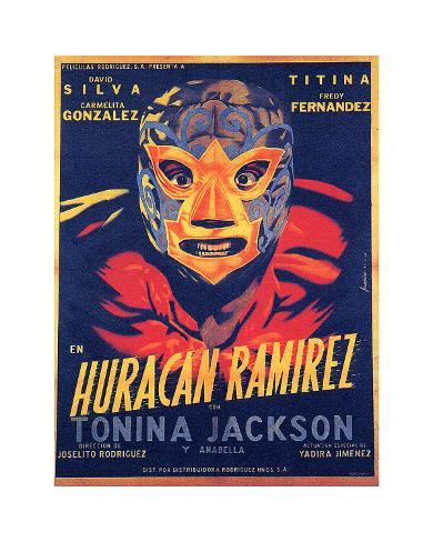 Classic Mexican Movie: Huracan Ramirez Giclee Print