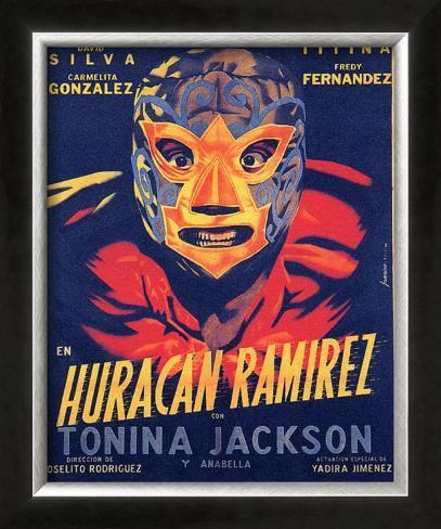 Classic Mexican Movie: Huracan Ramirez Impressão giclée emoldurada
