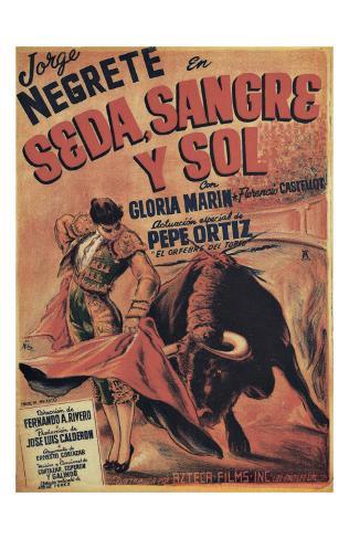 Classic Mexican Movie: Sedasangre Giclee Print