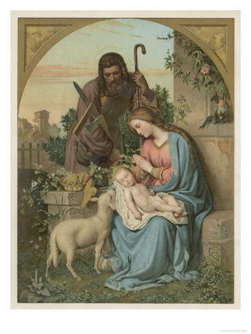 Classical Nativity Compostion Lámina giclée