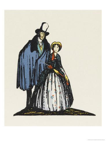 Little Dorrit and Arthur Clenham Giclee Print