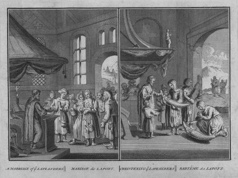 Marriage of Laplanders - Christening of Laplanders, 1726 Giclee Print